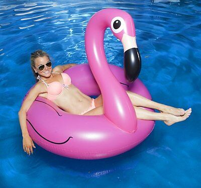 Big Mouth GIANT Pink FLAMINGO Pool Float LARGE INFLATABLES 1.2m 4 Feet