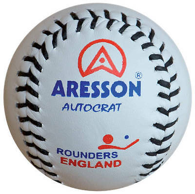 New Aresson Autocrat Rounders Game Leather Competition Match Ball White