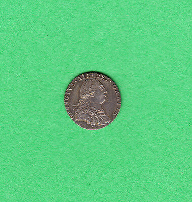 1787 Great Britain - Six Pence - George III - Extra Fine - With Hearts