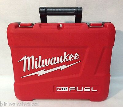 Milwaukee w/defects m12 Fuel Case for 2453-20 or 2454-20 Impact Wrench Case