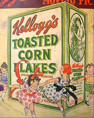 1909 Kellogg's Corn Flakes Cereal Premium Book Funny Jungleland Moving Pictures
