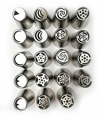 NEW Russian Tulip Tips Stainless Steel Icing Piping Nozzles Pastry Decorating