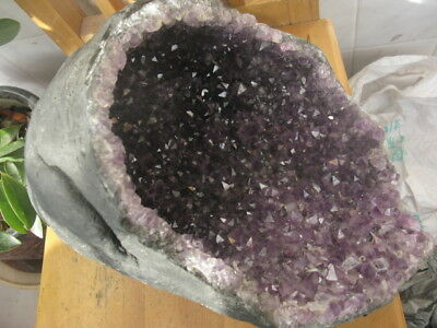 13000g AAA+++ TOP!!! Amethyst AGATE Quartz Crystal Geode SPECIMEN from Brazil