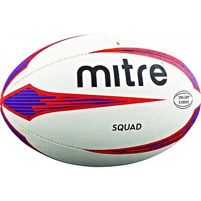 Mitre B4104 Squad Rugby Ball Match Training Practice Balls Official Sizes 3-5