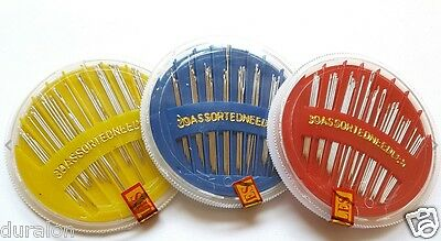 Hand Sewing Needles Disc Needle Asstd Embroidery Mending Craft Quilt Sew 30PCS