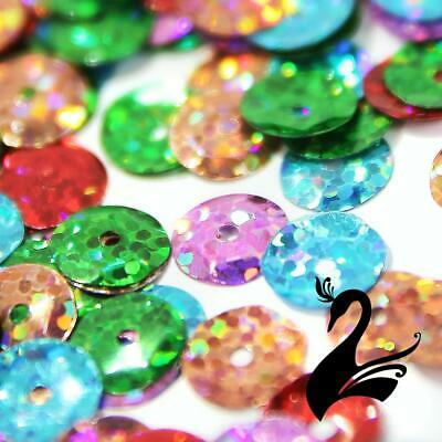 Sequins - PET Round Cup Laser Hologram Size 8mm (Price per 20g or 100g) - Dance