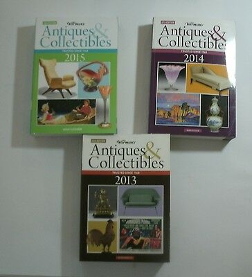 LOT of 3 ***Warman's Antiques and Collectibles 2015, 2014 & 2013
