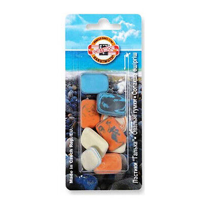 Koh-I-Noor 6510 Novelty Pebble Erasers for Pencil & Graphite - Pack of 9