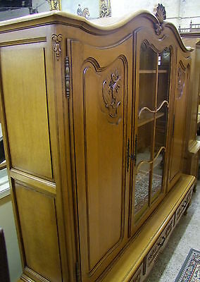 Louis Xv Style - French Carved Oak Combination Display/storage Cabinet - (00685)