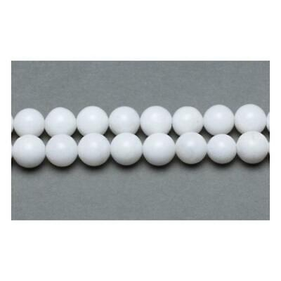 Malaysian Jade Round Beads 6mm White 62+ Pcs Gemstones Jewellery Making Crafts
