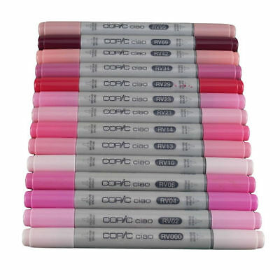 Copic Ciao Twin Tip Marker Pen Red Violet Colours