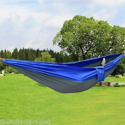 2 Person Camping Hammock Military Olive Green Nylon Survival Army Backpacking