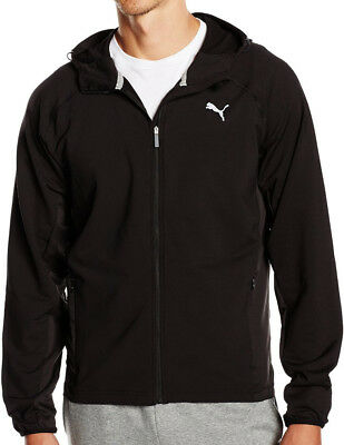 Puma Tech Fleece Mens Running Hooded Jacket - Black