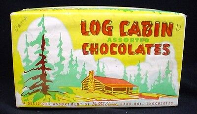 LOG CABIN CHOCOLATES Chocolate Box Ernest Robinson Toronto Vintage Advertising