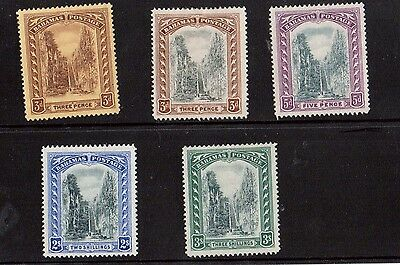 Bahamas #58 - #62 VF Mint Set