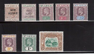 St Lucia #40 #42 #43 - #49 VF Mint Set