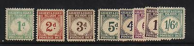 Gilbert & Ellice Islands #J1 - #J8 NH Mint Set