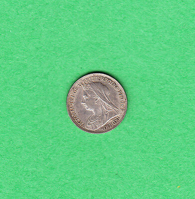 1901 Great Britain - Six Pence - Victoria - Extra Fine