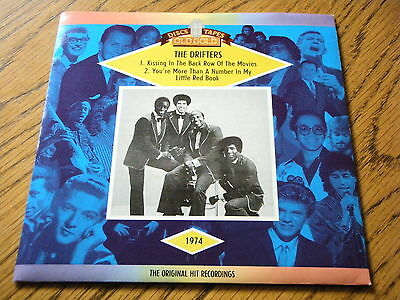 """The Drifters - Kissing In The Back Row / You're More Than A Number  7"""" Vinyl Ps"""