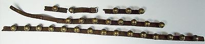Antique Christmas Brass SLEIGH Bells on Leather