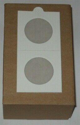 100 Lighthouse Self Adhesive 2x2 Half Dollar 32.5mm Coin Flips paper holders