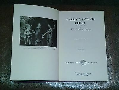 Garrick and His Circle by Mrs. Clement Parsons - Benjamin Blom - 1906, 1969, HC