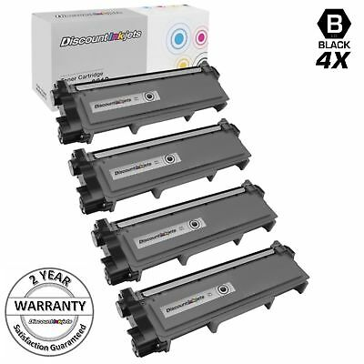 4pk TN660 for Brother High Yield Black Toner Cartridge HL-L2300D TN630 L2340DW