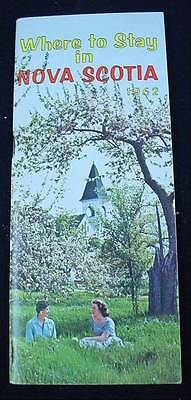 WHERE TO STAY IN NOVA SCOTIA 1962 Tourist Travel Guide Parks Hotels Cabins etc