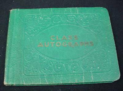 1932-39 Autograph Book Named J Nichols Turo Normal Collage Kings County Academy