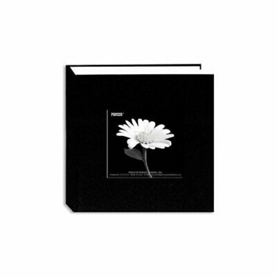 "Pioneer 4"" x 6"" Fabric Cover Photo Album (Black, 1 up / 200 Pocket)"