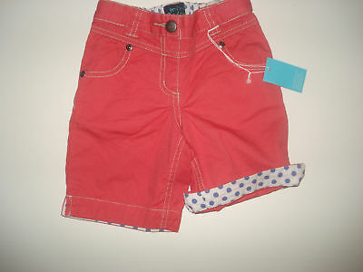 NWT Mini Boden Beach Cropped Red Pants 4-5 LR