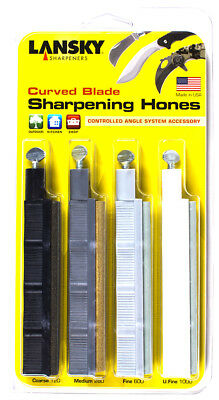 Lansky Sharpeners HRSET Curved Blade Hone Set Course to Ultra Fine