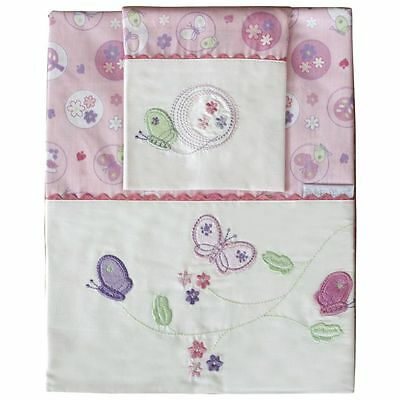 Bubba Blue Butterfly Garden Cot Sheet Set