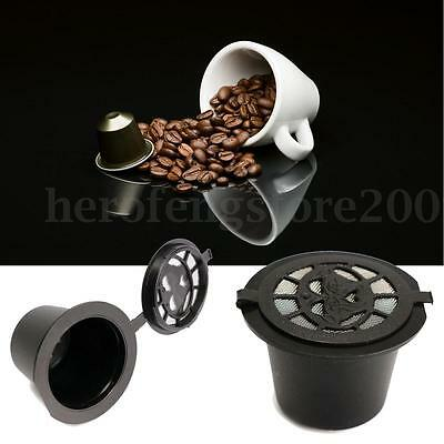 1/3/6x Refillable Capsule Pod for Nespresso Reusable Coffee Espresso Cup + Spoon
