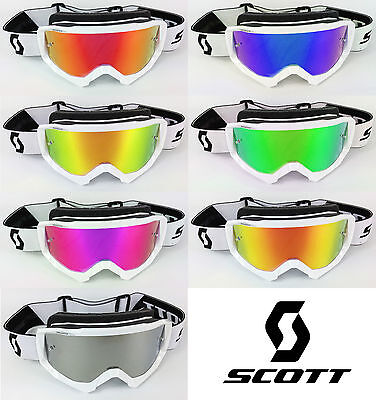 Goggle-Shop Motocross Mx Brille Chrom Spiegelglas Passend für Scott Hustle