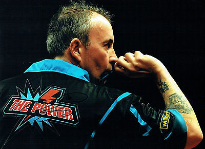 Phil The Power TAYLOR Signed Autograph Darts Champ 16x12 New Photo 3 AFTAL COA