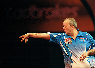 Phil The Power TAYLOR Signed Autograph Darts Champ 16x12 New Photo 5 AFTAL COA