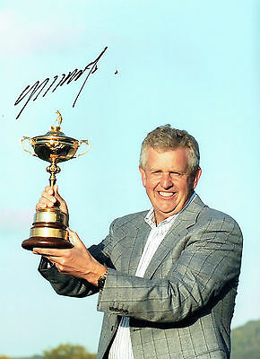 Colin MONTGOMERIE Signed Autograph 16x12 Ryder Cup Captain GOLF Photo AFTAL COA
