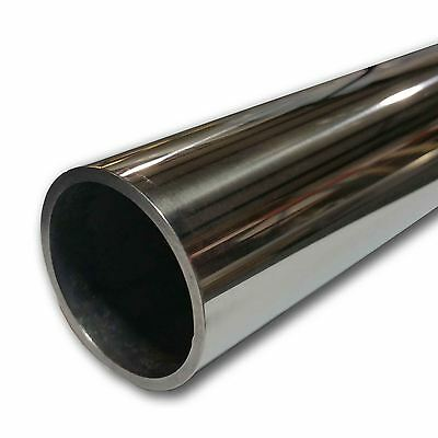 """Polished Stainless Steel Pipe 1-1/2 inch x 30"""" - SCH 10S  (1.9 OD x 1.682 ID)"""