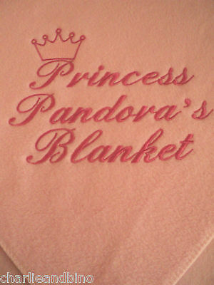 Personalised Dog, Cat Blanket In 9 Colours
