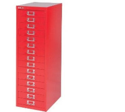 Bisley - 15 Multi Drawer Filing Cabinet - Brand  New - Red