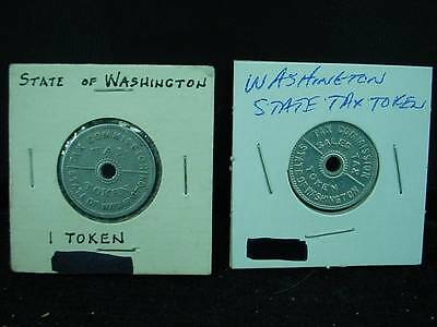 Lot of 2 Two Sales Tax Token Coins Washington State One Dated 1935