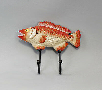 Hook rail Fish red/colourful iron new 9937593