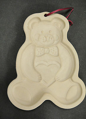 Pampered Chef Teddy Bear Cookie Mold 1991 Pottery Made in USA