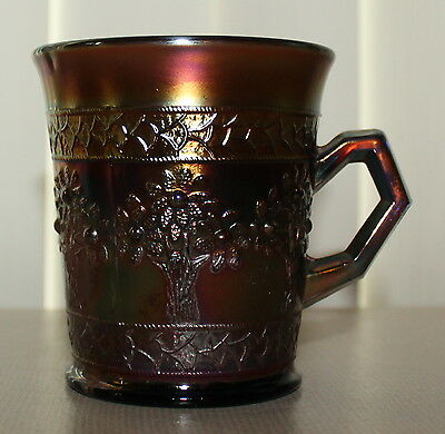 Vintage Fenton Carnival Glass ORANGE TREE Cup Mug
