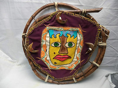 Vintage Ethnic Tribal Wall Hanging Textile Art by Claudia Silver Artisan