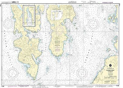 NOAA Chart Sumner Strait-Southern part 5th Edition 17386