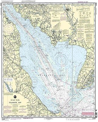 NOAA Chart Delaware Bay 46th Edition 12304