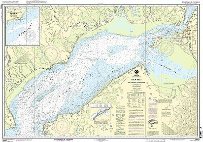 NOAA Chart Cook Inlet-East Foreland to Anchorage, North Foreland 9th Ed.