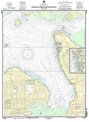 NOAA Chart Wrangell Harbor and approaches 9th Edition 17384